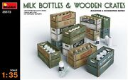 Milk Bottles And Wooden Crates Buildings And Accessories 1/35 Miniart 35573