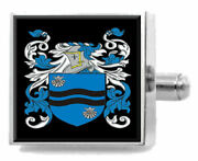 Llywellyn Wales Family Crest Coat Of Arms Sterling Silver Cufflinks Engraved Box