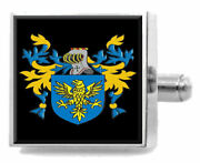 Gwinnett Wales Family Crest Coat Of Arms Sterling Silver Cufflinks Engraved Box