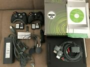 Microsoft Xbox 360 Elite 120gb Black Console /w Lots Of Games And Accessories