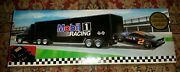 Mobile Oil Race Car Carrier 2 In Series Special Serialized Edition