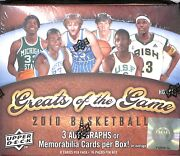 2010 Upper Deck Greats Of The Game Basketball Sealed Hobby Box