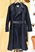 Nwt Uniqlo Idlf Ines De La Fressange Classic Long Belted Nylon Trench Coat Navy