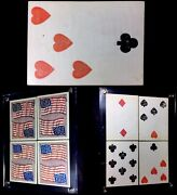 1861 Historically Magician Used Abe Lincoln Era Conjuring Antique Playing Cards