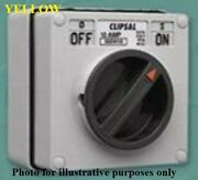 Clipsal Industrial Surface Rotating Switch 500v 3-poles Yellow- 50a Or 63a