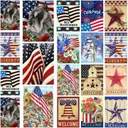 American Flag Independence Day Mini Garden Flag House Yard Flags Single Side