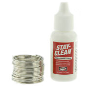 Harris Stay-brite Silver Bearing Solder And Stay Clean Liquid Flux Soldering Kit
