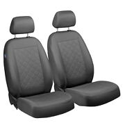 Car Seat Covers For Hyundai Getz Front Seats Grey Squares