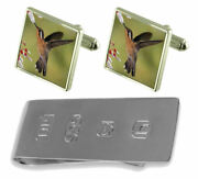 Humming Bird Cufflinks And James Bond Money Clip