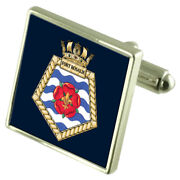 Royal Marine Fleet Auxiliary Fort Rosalie Argent Sterling Boutons Manchette