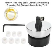 Jewelry Ring Setter Clamp Stainless Ring Engraving Ball Diamond Setting Tools