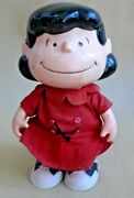 Rare Vintage 1952 Lucy Peanuts Charles Schultz Cartoon Plastic Doll Toy Snoopy