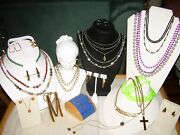 Vintage Necklaces, Earrings, Key Chain For Resale Or Repurpose