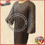 Stainless Steel Chainmail Shirt 9 Mm 18 Gauze Flat Ring Dome Riveted Large Size