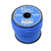 14 Awg Pure Copper Stranded Power Wire 100ft True Gauge Remote Cable Blue