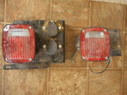 Pair Grote Rear Tail Light Truck Part Salvaged See Pics For Size Used