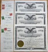Hillendale Homes - Baltimore Md Three 1939 Stock Certificates - Real Estate