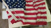 American Flag From Submarine Navy Uss Dolphin 555
