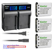 Kastar Battery Lcd Rapid Charger For Casio Np-80 Np-82 Cnp80 Casio Exilim Ex-n20
