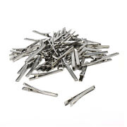 Silver Duck Clips, 60mm, 100-piece