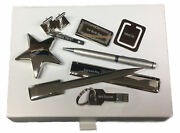 Box Set 8 Usb Star Cufflinks Clip Mail Opener Fetherston Family Crest Engraved