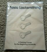 New Manual Basic Locksmith A Training Course For The Beginning Locksmith 47pgs