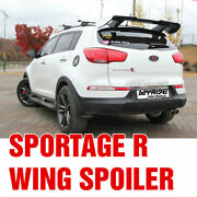 Rear Gt Wing Roof Spoiler Trunk Top Parts Unpainted For Kia 2011- 2016 Sportage