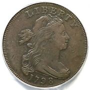 1798 S-161 R-2 Pcgs Vf 25 Draped Bust Large Cent Coin 1c