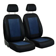 Car Seat Covers For Renault Clio Front Seats Black Blue Velours