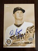 Blayne Enlow Auto Signed 04/10 5x7 2018 Topps Pro Debut Gold Twins In Person