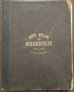 City Atlas Of Schenectady New York. From Official Records Private Plans And Ac