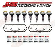 99-03 Ford Powerstroke 7.3l Injectors Valve Cover Gaskets And Oem Glow Plugs