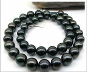 Huge 1812-15mm Natural South Sea Genuine Black Round Pearl Necklace Gh90aaa