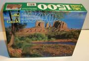 New Sealed Golden Guild 1500 Pc Red Rock Crossing Jigsaw Puzzle