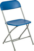 100 Pack 650 Lbs Capacity Commercial Quality Blue Plastic Folding Chairs