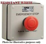 Clipsal Emergency Stop Push Button Control Station 1-position Resistance White