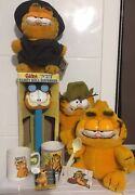 Garfield Collectable Bulk Lot Rare Giant Large Pez Candy Roll Dispenser And More