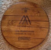 Nothing More Autographed Jack Danieland039s Whiskey Barrel Drumhead Guitar Pick Rare