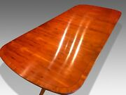 Stunning 9ft Harrods Of London Art Deco Style Burr Yew Tree Pro French Polished