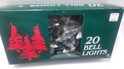 Montgomery Ward 20 Bell Christmas String Lights Vintage Tested