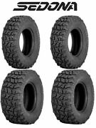 Sedona Coyote Complete Tire Set 25x8-12 Front And 25x10-12 Rear - Arctic Cat Atvs