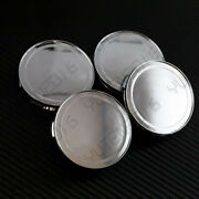Replacement 76mm Wheel Center Caps Covers Chrome Silver No Logo Universal