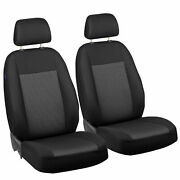 Car Seat Covers For Citroen C15 Front Seats Black Grey Triangles
