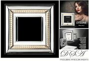 Frame Silver 925 E Gold 18kt Made In Italy Cm.30x3 Glass Cm.15x15 Dl /1074