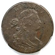 1798 S-186 R2 Pcgs Vf 30 Draped Bust Large Cent Coin 1c