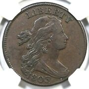1803 S-246 Ngc Vf 25 Sm Date Sm Frac Draped Bust Large Cent Coin 1c