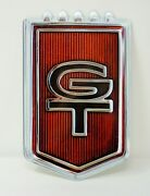 1965 Ford Mustang Gt Emblem Badge Heavy Duty Steel Metal Sign - Large 35 X 22