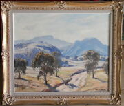 Leon Hanson 1918-2011 Original Oil Painting Morning Light Newnes Wolgan Valley