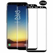 For Samsung Galaxy S8 3d Curve Dot Matrix Tempered Glass Screen Protector 2 Pack