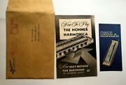 1959 The Hohner Harmonica Sales Brochure And How To Play Guide W/ Envelope